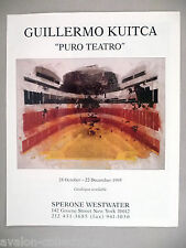 Guillermo Kuitca Art Gallery Exhibit PRINT AD - 1995 ~~ Puro Teatro