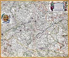 Reproduction carte ancienne - Comté de Hainaut 1680