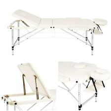"Used - White Aluminum 84"" 3-Section Portable Massage Table Facial SPA Bed Tattoo"