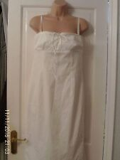 WHITE STRAPPY DRESS BY OASIS, SIZE 12