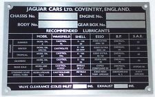 Chassis Plate For Jaguar XK150 57 - 60 JAG1001