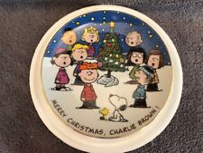 Merry Christmas Charlie Brown commemorative plate from the Danbury Mint, w/Coa