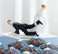 Handmade Resin Figurine Wedding Cake Toppers Bride Groom Humor Marriage Dolls