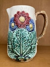 MAGNIFIQUE MAJOLICA BARBOTINE PITCHER JAR H 15 cm EXCELLENT CONDITION