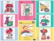 DMC HAPPINESS IS COUNTED CROSS STITCH MINI KITS 8 DESIGNS TO CHOOSE FROM NEW