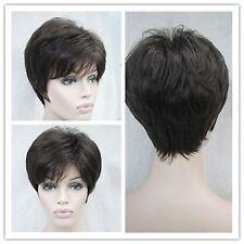 Wigs,brun fonce court Bouclé santé cosplay Costume cheveux perruques