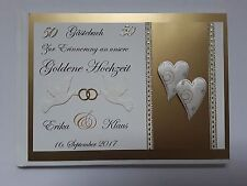 Fotoalbum Hochzeit Goldene Hochzeit 29 x 32 cm Metalloptik gold edel