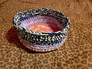 Rainbow Boho Crochet Handmade Basket
