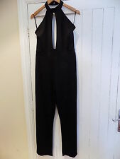 Misguided choker neck all in one jumpsuit / playsuit size 12 VGC WORN FEW TIMES