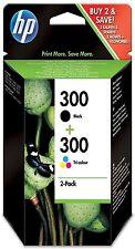2 Original HP 300 Black & Colour Ink Cartridges Pack for C4680 C4780 Printer BNB