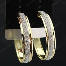 Wholesale Jewelry Lots 6pairs Gold P Frost Fashion Charms Women Hoop Earrings