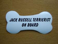 Jack Russell TERRIERIST on Board car window / bumper sticker