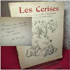 LES CERISES  Comédie en un acte de B.Clénet avec envoi de l'auteur  !