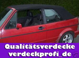 VW Golf 1 Cabrio Verdeck Stoff schwarz (Herbstangebot)    A