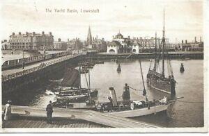 The Yacht Basin - LOWESTOFT - Suffolk - 1913 Original Postcard (00230)