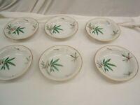 "Lot of 6 Noritake ""Canton"" Bamboo Soup Bowls 7 1/2"" Diameter Japan VGC"
