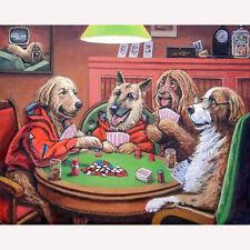 Full Drill Diamond Painting Kit Like Cross Stitch Dogs Playing Cards DIY ZY214E
