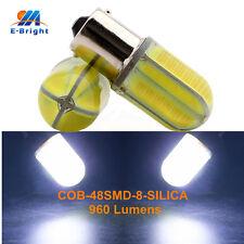 2Pcs White COB 48 SMD 8 SILICA LED 12V 24V 1156 BA15S Car Bulb Turn Signal Light