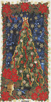 "23"" Fabric Panel - Timeless Treasures Christmas Tree Angel Poinsettia Metallic"