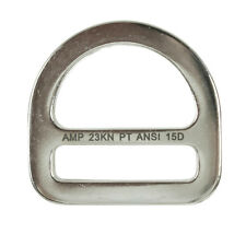 Fusion Climb Kendo Carbon Steel Drop Forged Single Slotted D-Ring Silver 23KN
