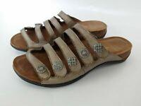 Dansko Women's 37( Janie) Bronze Leather Adjustable Strap Sandals