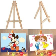 Kids Mini Wooden Easel Artist Art Painting Name Card Stand Display Holder TBM