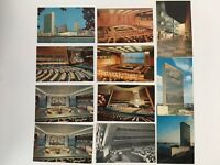 11 LOT c1960s United Nations, New York City Vintage Color Chrome Postcards Scene