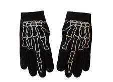 Motorcycle Skeleton Middle Finger Bone Textile Mechanic Gloves Size XL