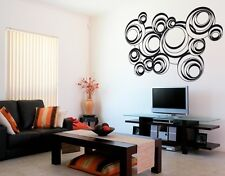 Retro Circles Ornament - highest quality wall decal stickers