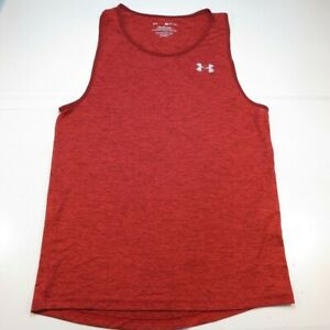 UNDER ARMOUR THE TECH TANK TOP TEE T SHIRT Mens S Red