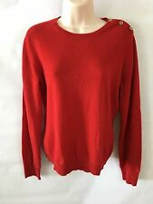 RALPH LAUREN Green Label Womens Cashmere Sweater Crewneck Red Long Sleeves  M