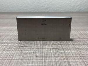 "Used L.S. Starrett Webber 3 Inch 3"" Steel Retangular Gauge Block"