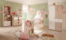 Babyzimmer Kinderzimmer Wiki 3 Teile Babybett Wickelkommode Eiche Sonoma Dekor
