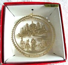 """Wizard Of Oz The Emerald City 2.5 """" Christmas Ornament 24K Gold Coated Brass"""