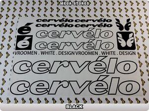 CERVELO Bike Bicycle Frame Decals Stickers Graphic Adhesive Set Vinyl Purple