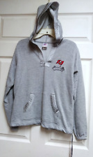 80008c5a2 NFL For Her Gray Tampa Bay Buccaneers Pullover Hoodie Size M Medium Football