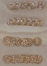 """24 Czech thin gold metal buttons large & smaller rhinestones 2 styles 1.25"""""""