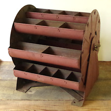 Vintage Revolving Industrial Parts Tray - Ferris Wheel Style - Not a Repro.