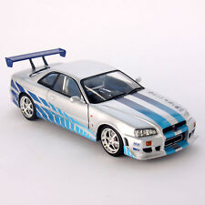 Fast & Furious Brian's 1999 Nissan Skyline GT-R R34 1:18 Scale Diecast Car Model