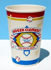 3 Roger Clemens Sports World Flame Roasted Chicken Restaurant Paper Cup Baseball
