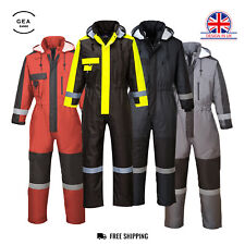 Portwest Winter Padded Coverall Overall Thermal Work Waterproof Boiler Suit S585