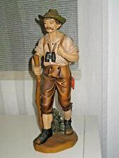 Holzfigur, Bergsteiger, Wanderer m. Fernglas, Alpinist, Grödnertal, 30cm, TOP685