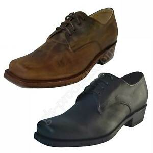 Sendra 530 New Original Biker - Shoes Cowboy Boot Style Chocolate Black handmade