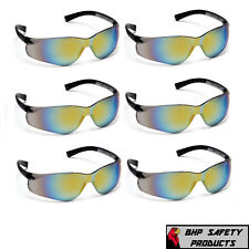 Pyramex Ztek Safety Glasses Gold Mirror Lens Sunglasses Z87 S2590s 6 Pair