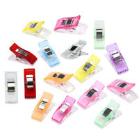 50 PCS Useful Colorful Sewing Craft Quilt Binding Plastic Clips Clamps Pack Tool