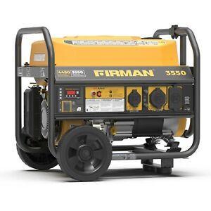 Firman 3550W Running / 4450W Peak Gasoline Powered Generator, Portable Generator