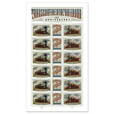 TRAIN US TRANSCONTINENTAL RAILROAD 150th MEMORIAL 5378-80 18 FOREVER STAMP SHEET