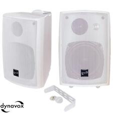 1 Paar Dynavox 3 Wege Boxen,Weiss Halterung,160w Lautsprecher Wand,Outdoor (335
