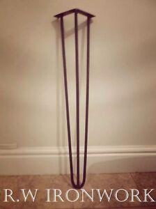 Hairpin Legs. Retro, Eames era. Table legs,(SET OF FOUR)