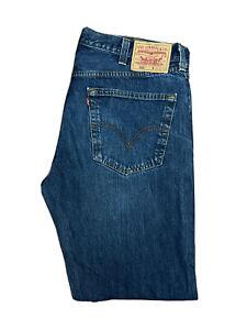 Original Levi's 501® Classic Straight Leg Blue Distressed Jeans W38 L32 ES 8284